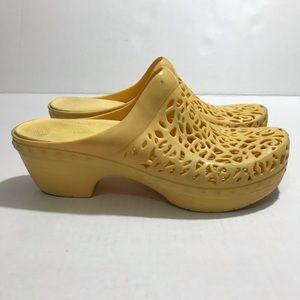 Dansko Yellow Rubber Clogs Size 39